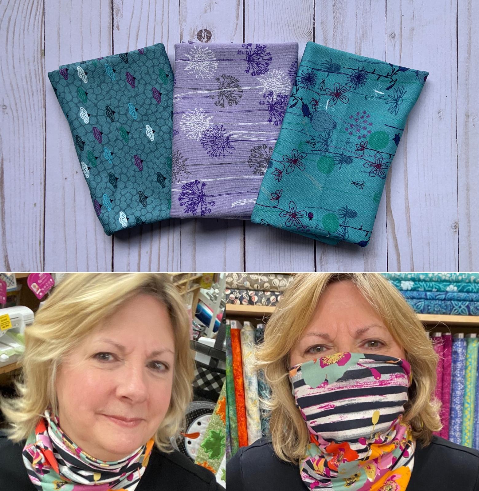 Lavender Dreams NEW! - Gloria Gaiter Face Covering Kit (Makes 3)