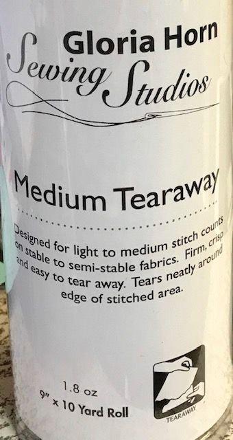 Medium Firm Tearaway white  9 x 10 yards  H320910K