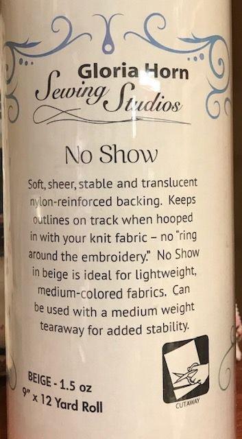 No Show Stabilizer Beige 9 x 12 Yard Roll Cut Away