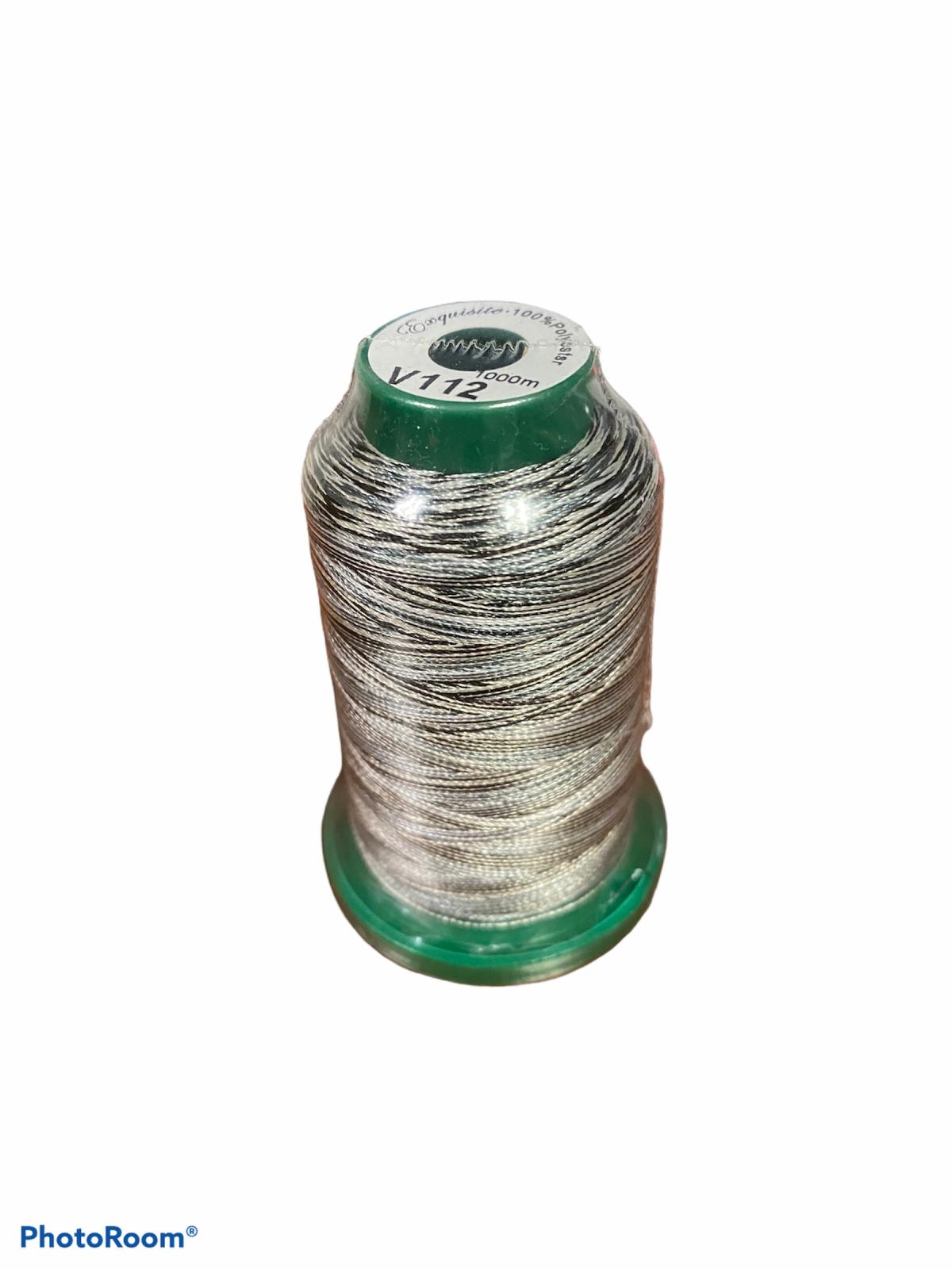 Medley Variegated Embroidery Thread - Salt' N Pepper 1000 Meters (V112)