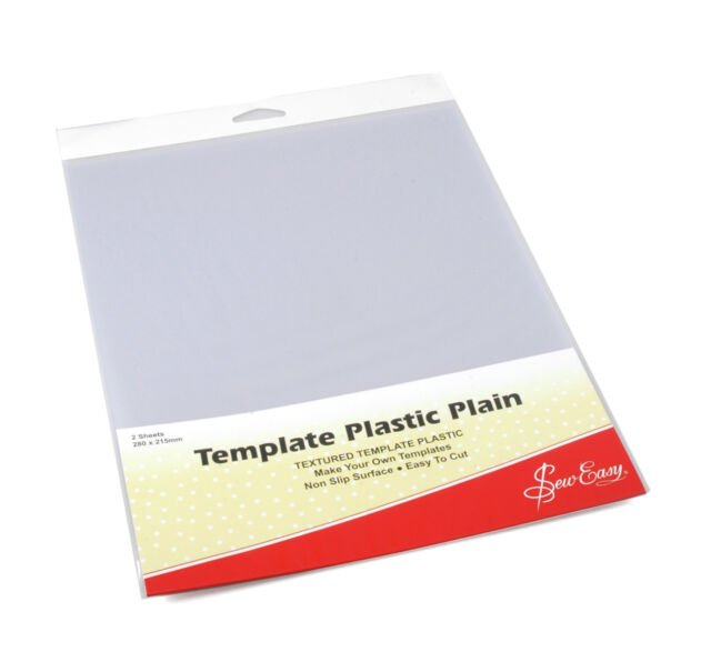 Template Plastic Plain - Sew Easy - 2 Sheets
