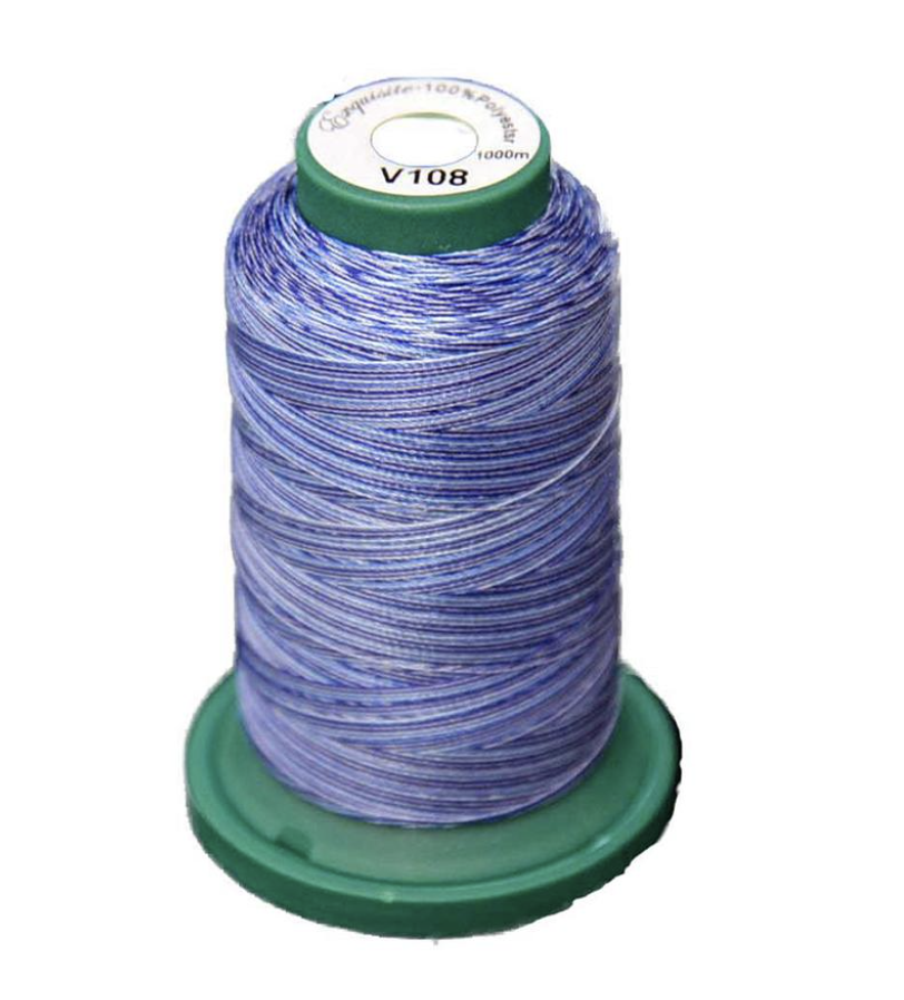Medley Variegated Embroidery Thread - Denim Blues 1000 Meter (V108)