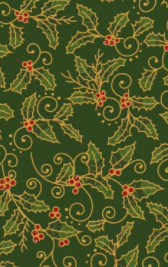 2604-05 Traditional Holly - Cream by The Craft Cotton Company