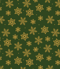 2604-02 Traditional Snowflake - Green by The Craft Cotton Company