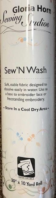 Sew'N Wash 20 x 10 Yard Roll Wash Away Stabilizer H5902010