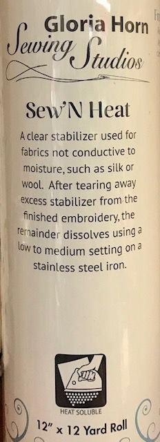 Sew'N Heat 12 x 12 Yard Roll Heat Soluble Stabilizer H6701212K
