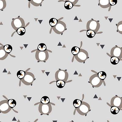 Avalana-Digital Jersey Knit Grey Penguins  632987