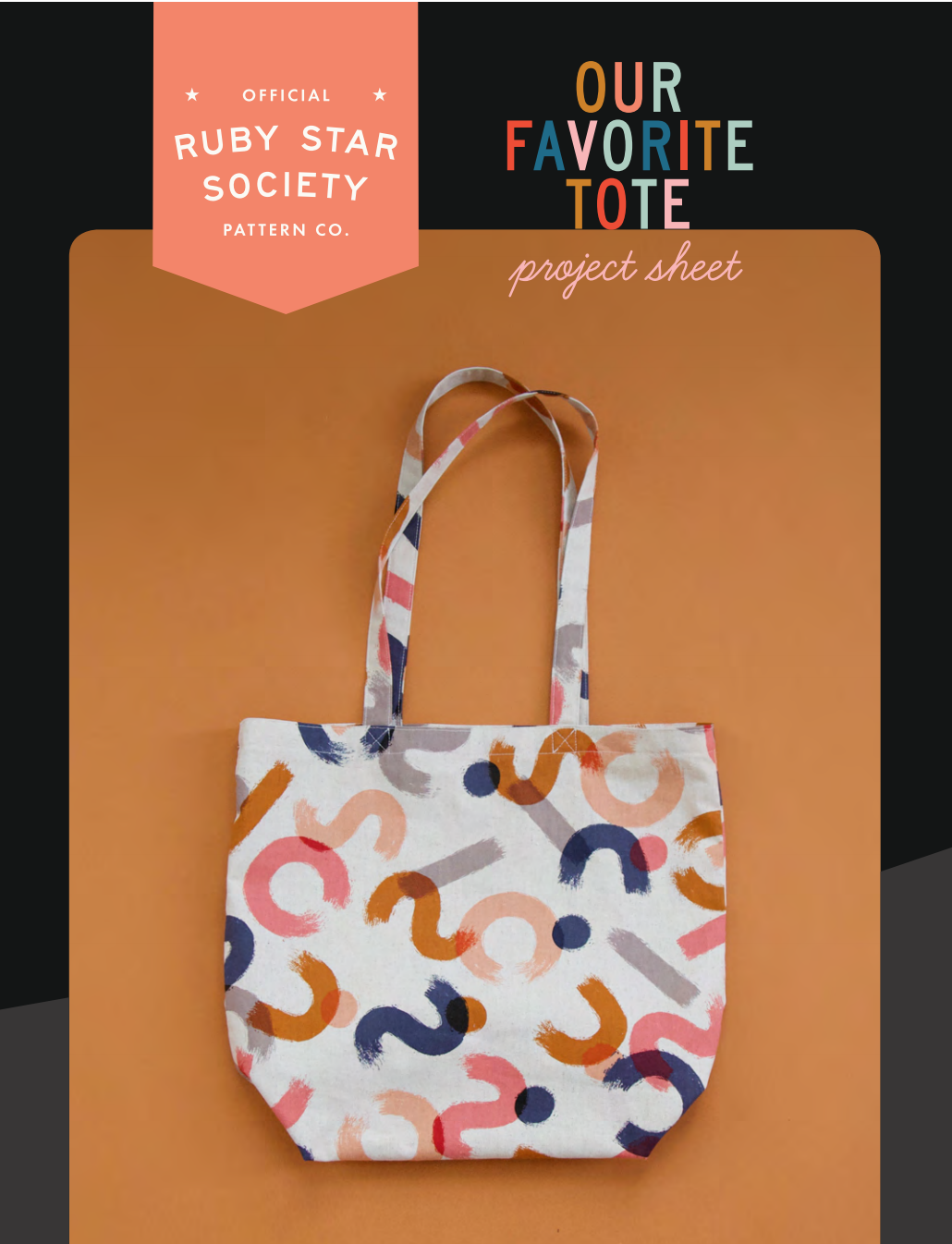 Our Favorite Tote - Ruby Star Society - Blue & Tan