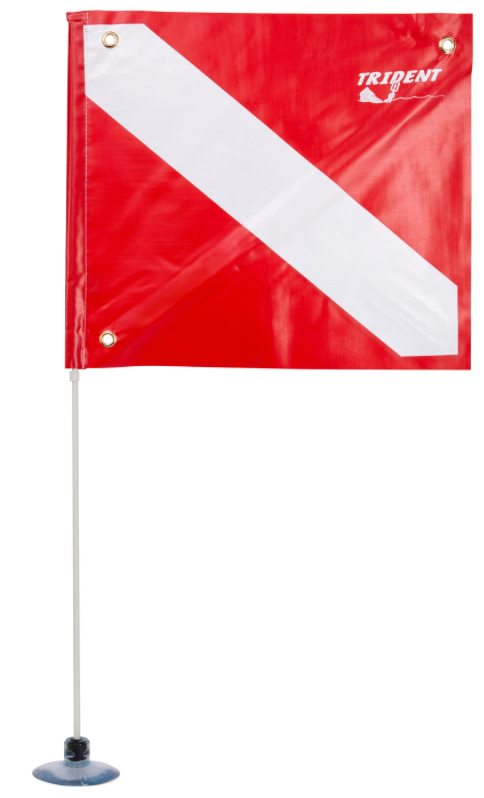 Trident Suction cup Dive Pole and Flag
