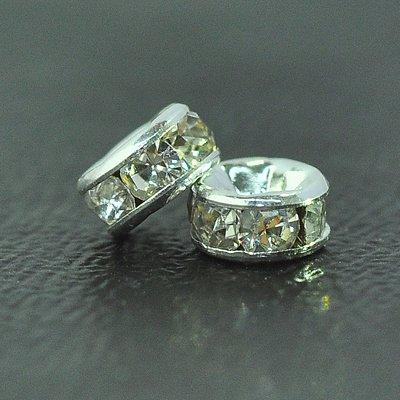 4mm Crystal RNDL Silver 10pc