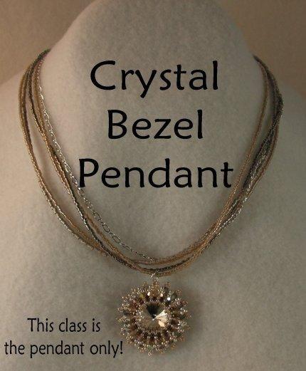 INS163 Crystal Bezel Pendant