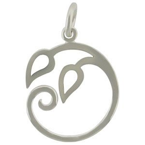 SP Pendant w Two Curled Vines- over Bronze