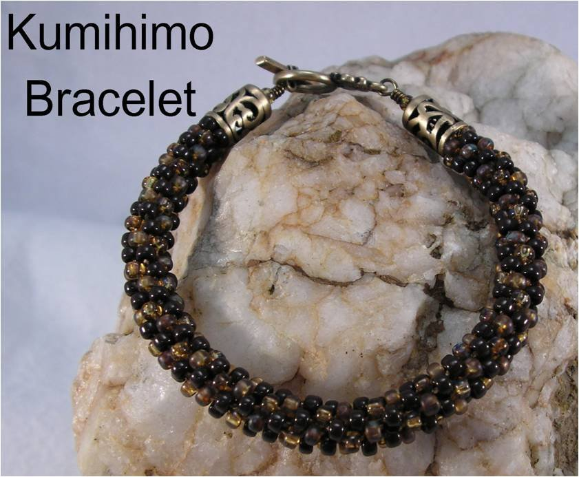 INS174 All Beaded Up Kumihimo Beaded Bracelet