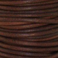 Antiq Brown 3 mm Rnd Leather