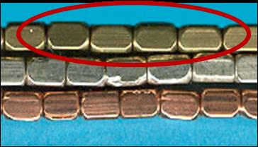 4.5x3mm Brass Rectangle Bead 40pc