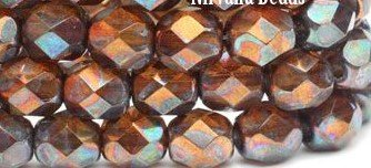 6mm FP Amber w Met Rust Finish 25pc