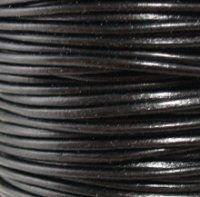 Black Shine 1 mm Rnd Leather