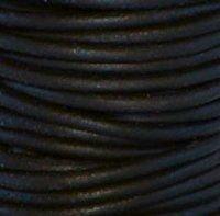 Black Nat 1 mm Rnd Leather