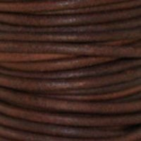 Nat Red Brown 2 mm Rnd Leather