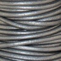 Grey 3 mm Rnd Leather