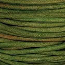 Nat Dk Green 3 mm Rnd Leather