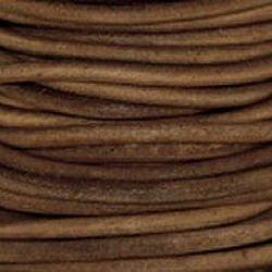 Lt Natural  3 mm Rnd Leather