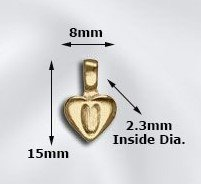 GP Heart Glue Bail 8x15mm EA