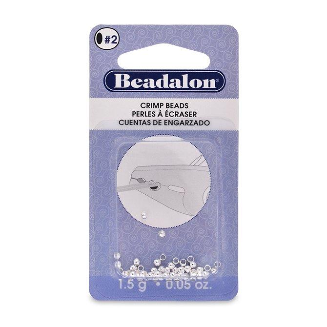 1.5g Bag Crimp Beads 1.5mm Silver