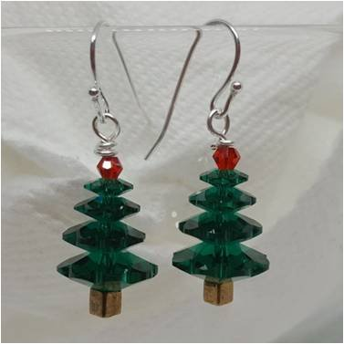 Crystal Tree Earring Kit GREEN