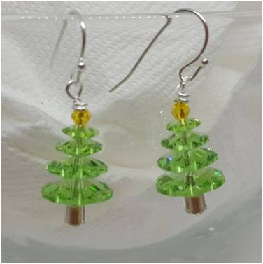 Crystal Tree Earring Kit Lt Green