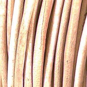 Natural 3 mm Rnd Indian Leather