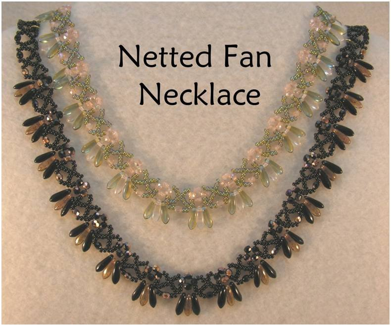 INS207 Netted Fan Necklace