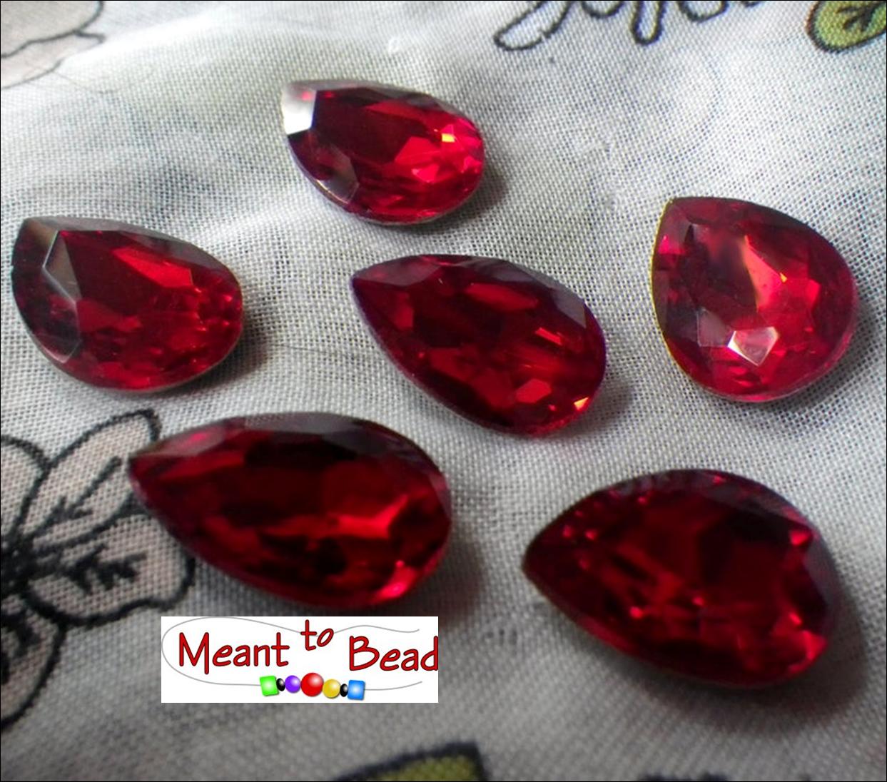 Siam Ruby Red 18x13mm Pear EA