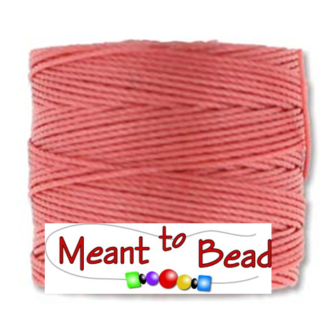 Chinese Coral S-Lon Bead Cord