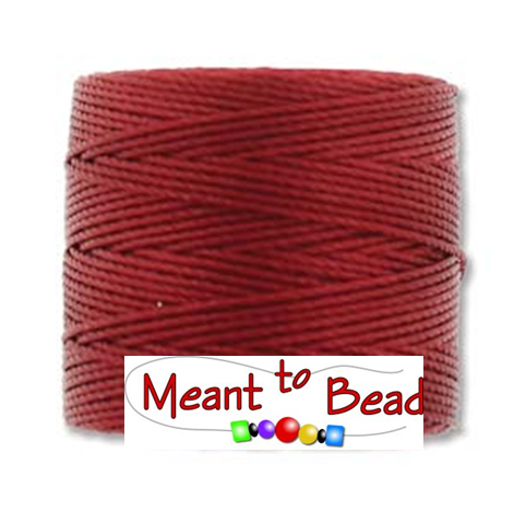 Red Hot S-Lon Bead Cord
