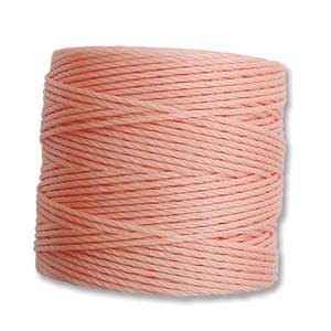 Coral Pink S-Lon Bead Cord