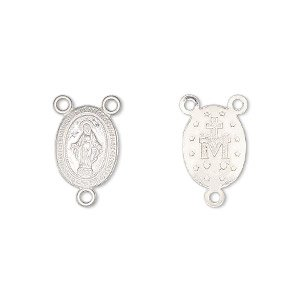 SS 12x10mm Oval Rosary Center