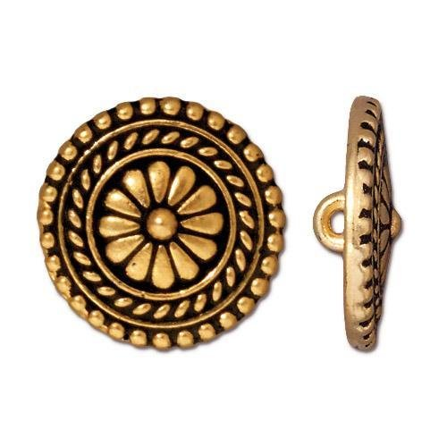 Button, Bali LG Round, GA