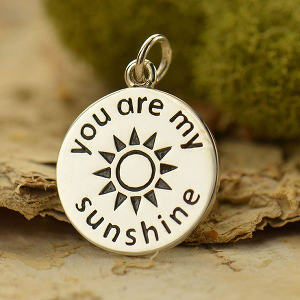SS You are my Sunshine Charm 22x15mm - copy
