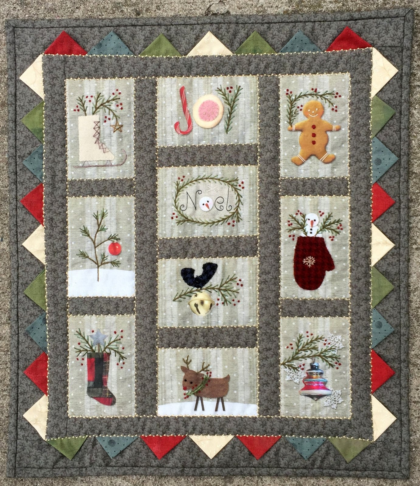 All Through the Night - Christmas Wallhanging Kit