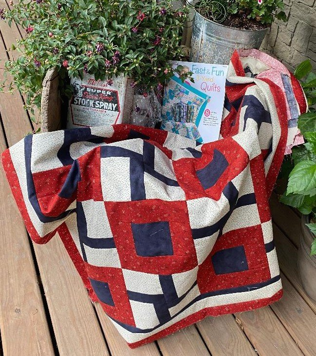 Old Glory 3 yard Quilt Kit