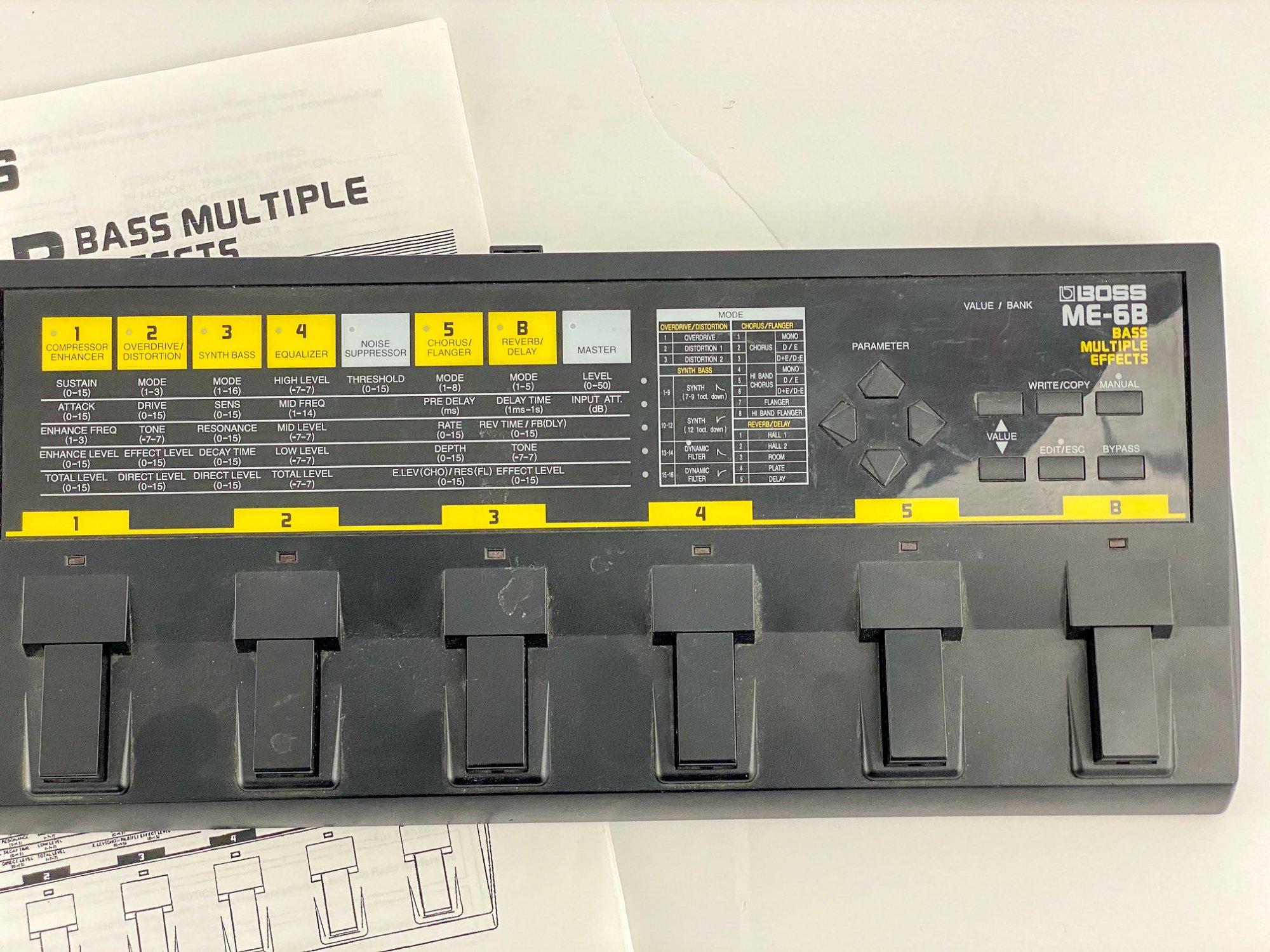 Boss ME-6B w/manual & power supply