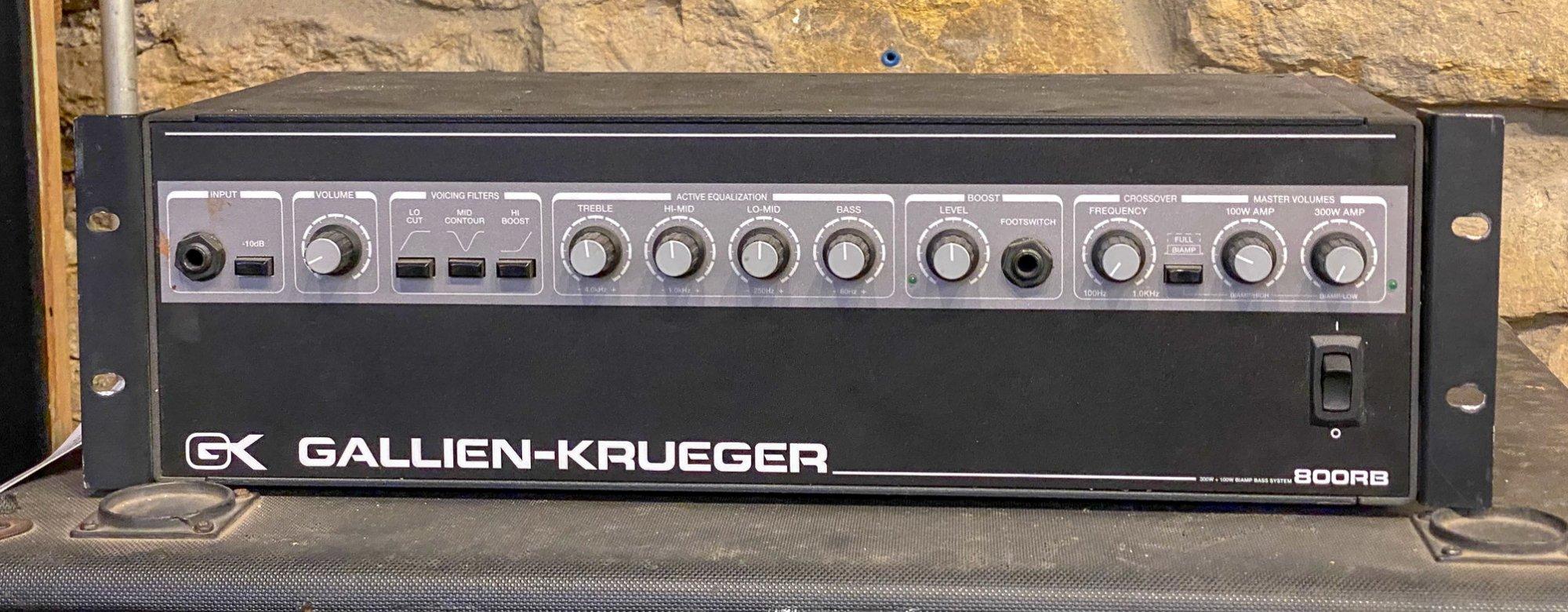 Used Gallien Krueger 800RB bass amp head