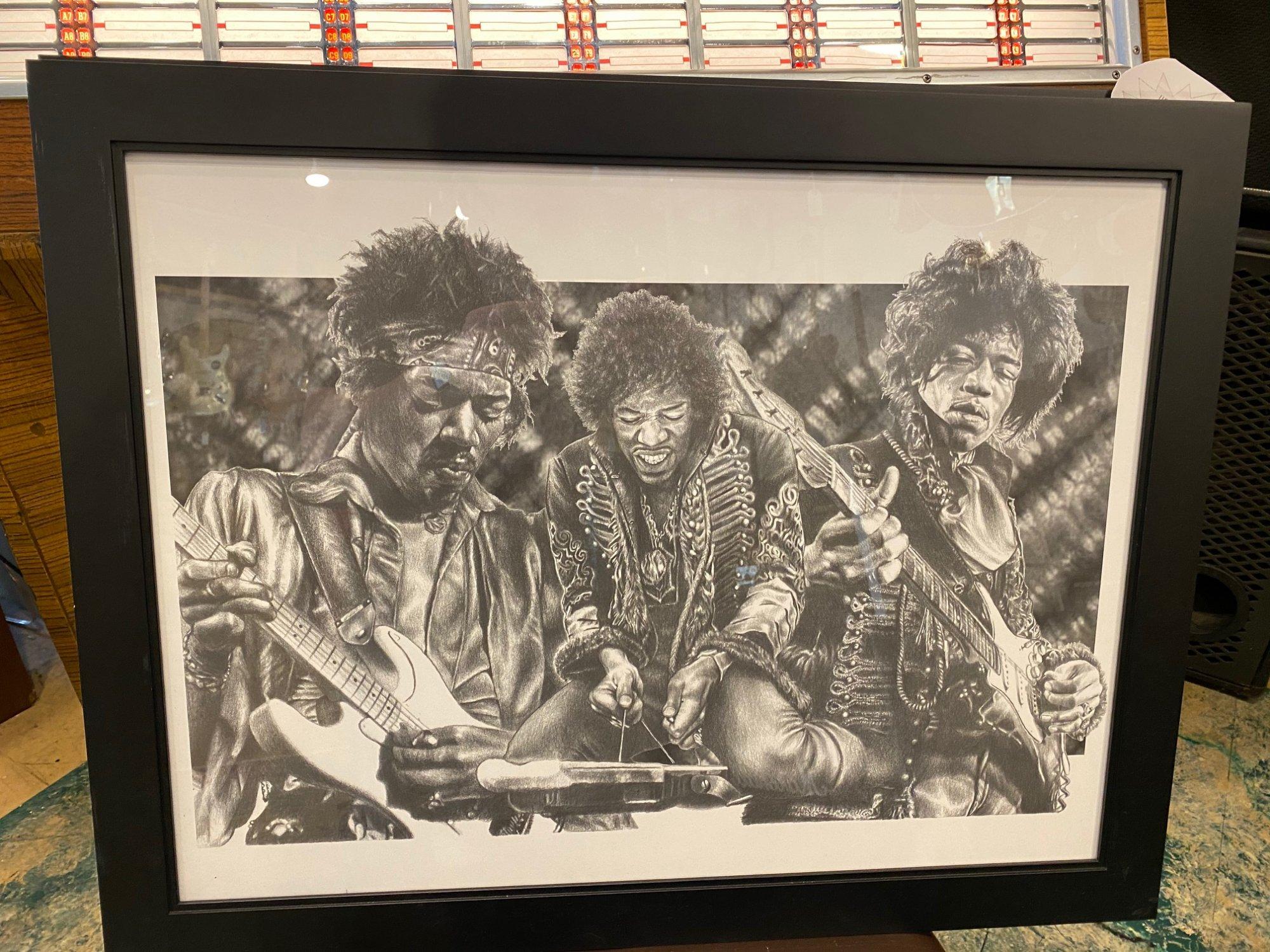 framed poster - Jimi Hendrix! 3 styles