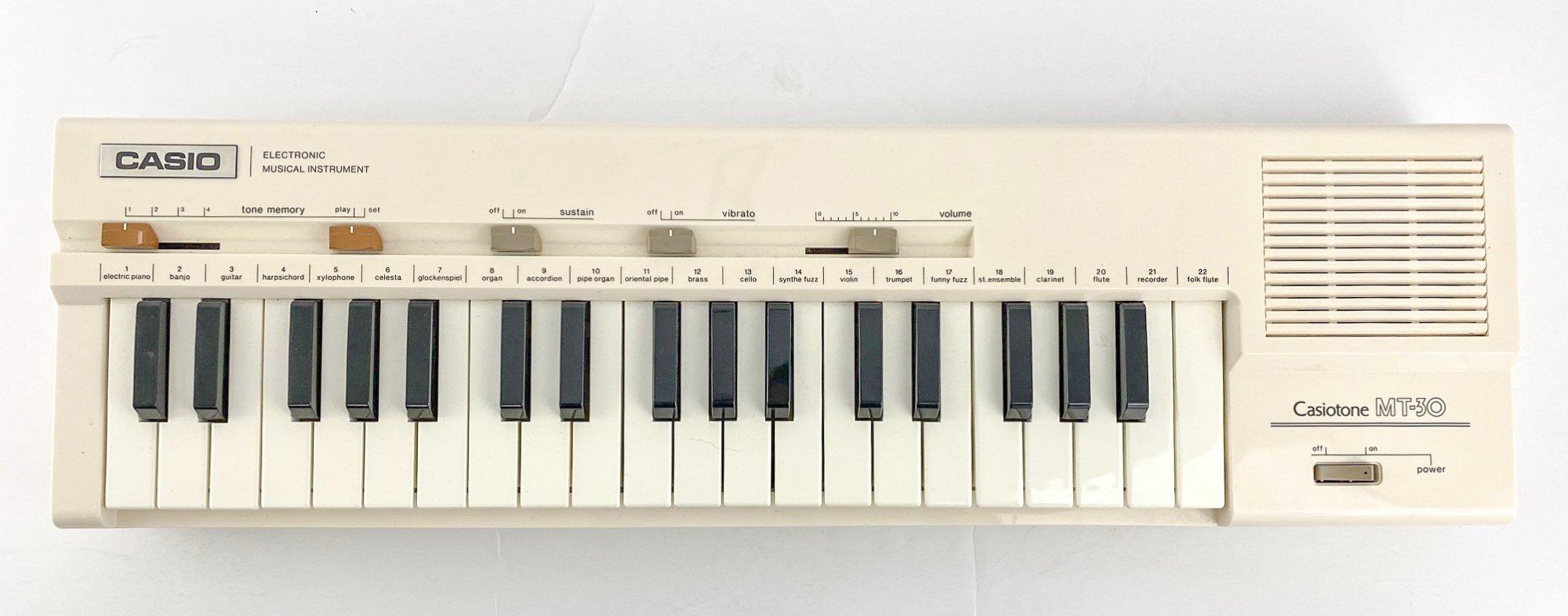 Casio Casiotone MT-30 w/custom case