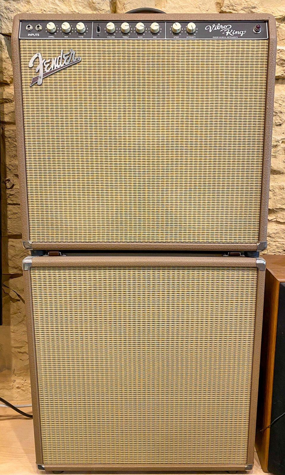 Fender Custom Shop Vibro-King 60w 3x10 Combo w/2x12 Cabinet