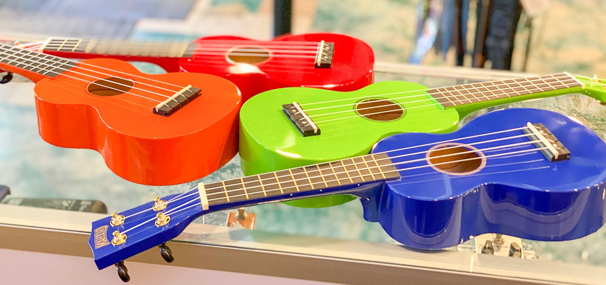 Mahalo MR1 Soprano Uke - Blue, Green, Orange, Red