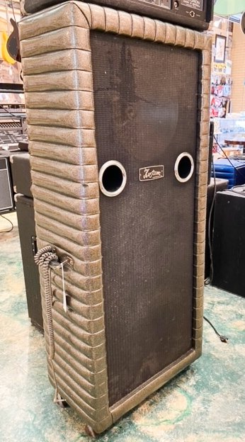 Kustom 3x15 bass cabinet with Jenson speakers - Silver Sparkle