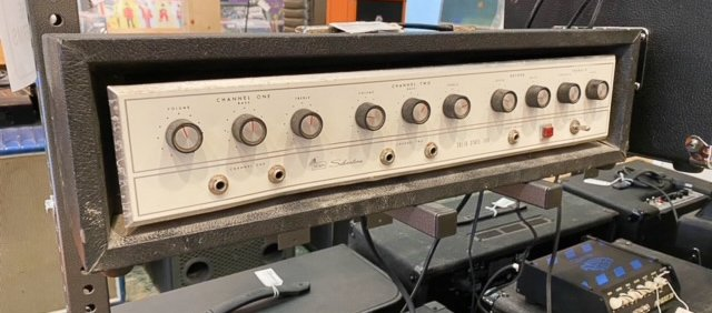 Vintage Silvertone 1464 amp head