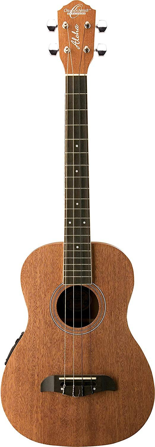 Oscar Schmidt Ukulele Baritone w/ EQ Natural - includes case